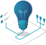 Lightbulb icon graphic